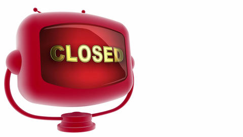 tv closed red Stock Video Footage