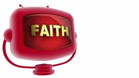 tv faith r Stock Video Footage