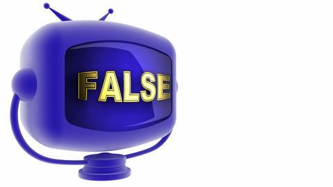 tv false blue Stock Video Footage