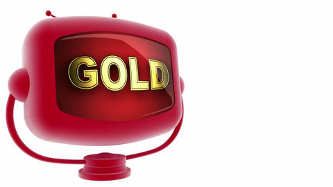 tv gold red Stock Video Footage