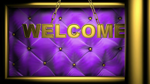 welcome viol Stock Video Footage