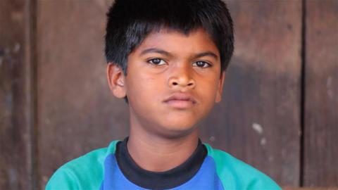 India. Junior trader Stock Video Footage