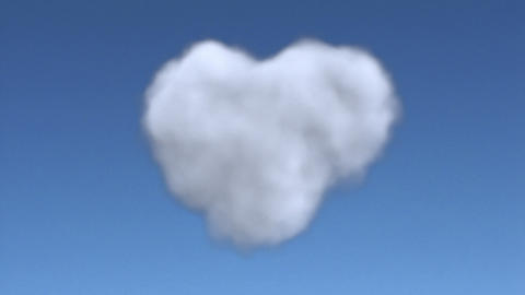 cloud heart full Stock Video Footage