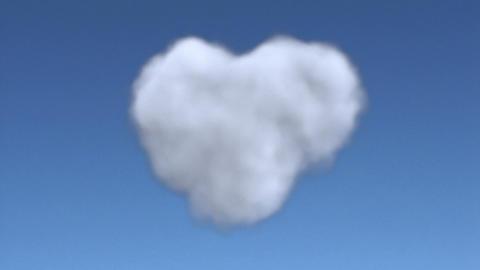 cloud heart full Stock Video Footage