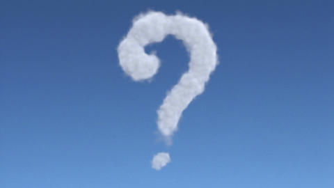 cloud question mark Stock Video Footage