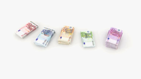 euro bundle banknote Animation