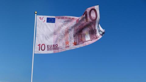 Flag Europe Stock Video Footage