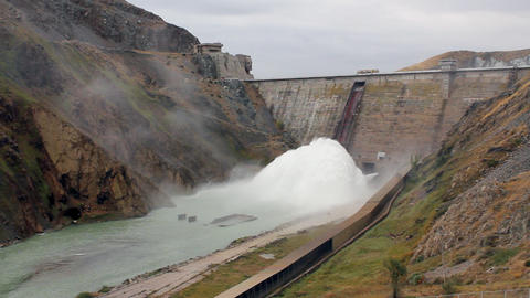 electrical dam Stock Video Footage
