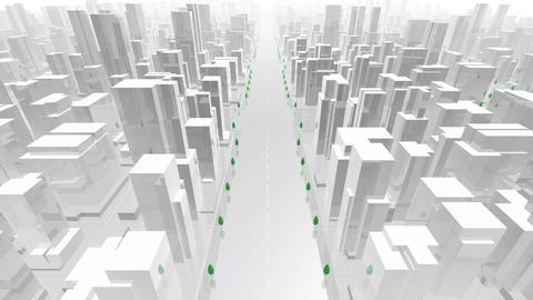 City Building A02W HD Animation