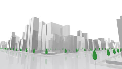 City Building A03W HD Stock Video Footage