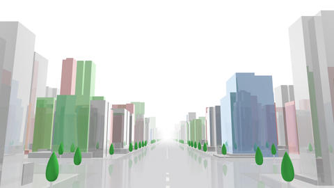 City Building ACL01W HD Animation