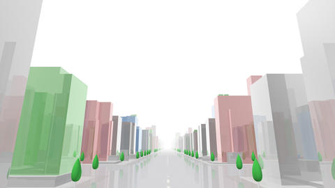 City Building ACL05W HD Stock Video Footage