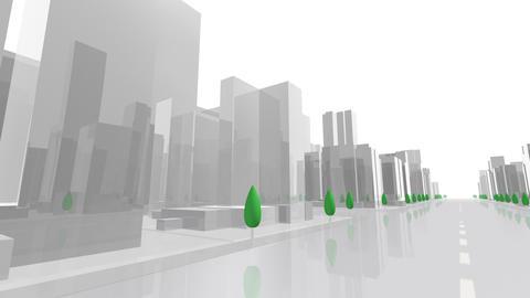 City Building AL06W HD Animation