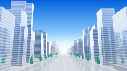City Building B01B HD Stock Video Footage