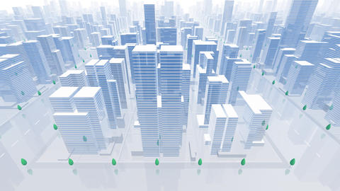 City Building B04B HD Animation