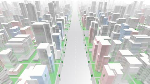 City Building GC02W HD Animation
