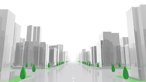 City Building GL01W HD Animation