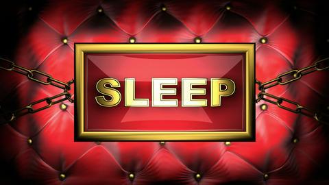 blinking monitor sleep Stock Video Footage
