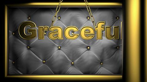 graceful black Stock Video Footage