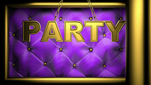 party purple Stock Video Footage