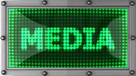 blinking lights(media) Stock Video Footage