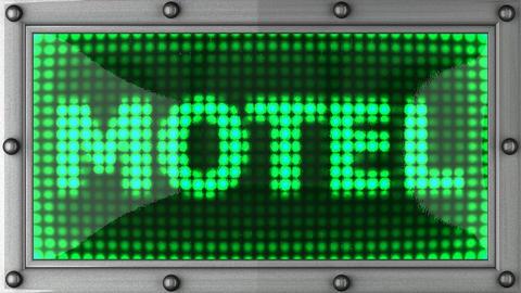 blinking lights(motel) Stock Video Footage