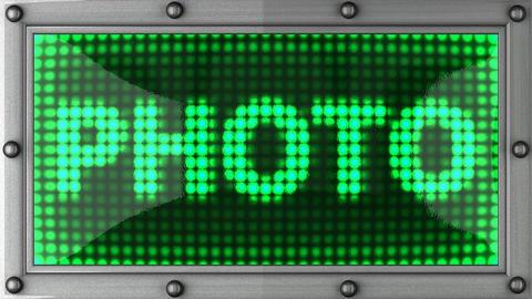 blinking lights(photo) Stock Video Footage