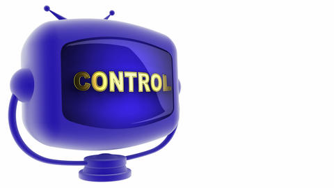 tv control blue Stock Video Footage
