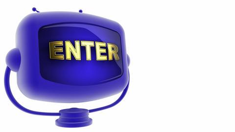 tv enter blue Stock Video Footage