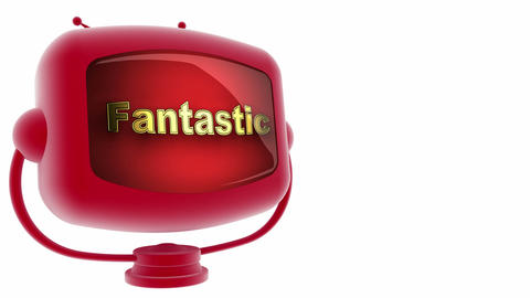 tv fantastic red Stock Video Footage