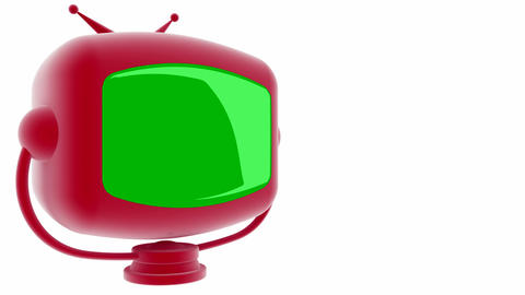 tv greenscreen red Stock Video Footage