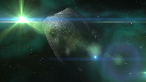Space Meteor & Asteroid Belt Animation