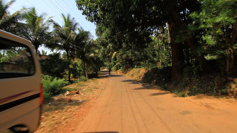 Road to India Stock Video Footage