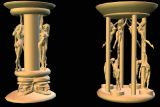 Columns 4 Obj stock footage