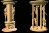 columns 4 obj 3D
