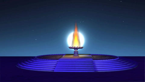 Temple Plate 1 HD Seamless looping Animation