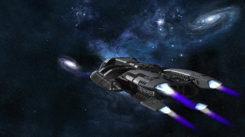 space ship 3 Stock Video Footage