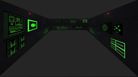 inside space ship HD7 Animation