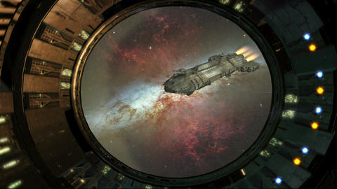 SPACE SHIP HD 9 Stock Video Footage