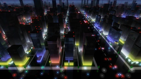 City Building NA04B HD Animation