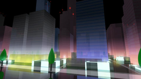 City Building NA06B HD Animation