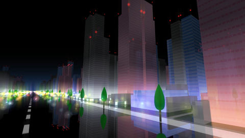 City Building NA06B HD Stock Video Footage
