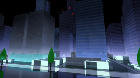 City Building NAC06B HD Animation