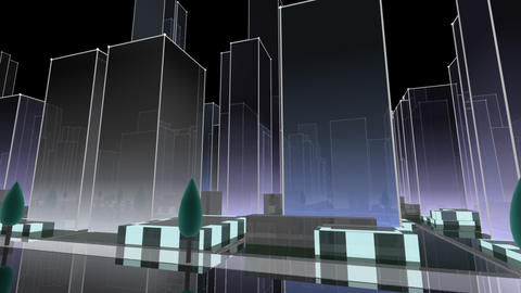 City Building NC06B HD Animation
