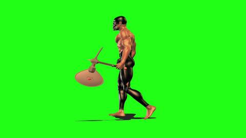Axe man 2 Stock Video Footage