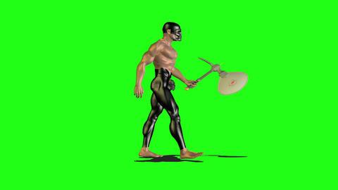 Axe man 4 Stock Video Footage