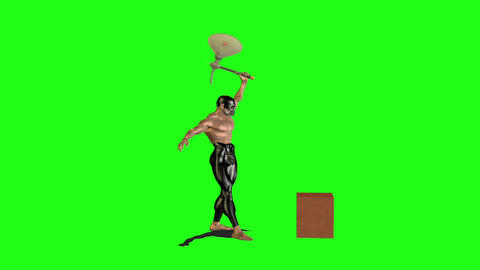 Axe man 6 Stock Video Footage