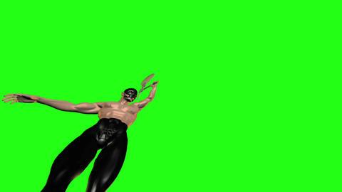 Axe man 8 Stock Video Footage