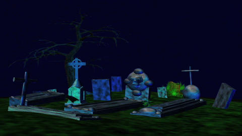 Grave Yard 5 Stock Video Footage