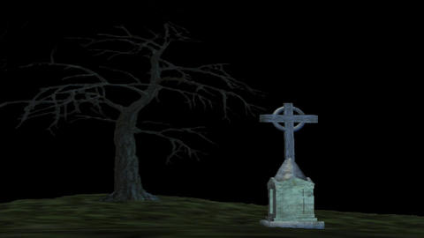 Grave Yard 4 Stock Video Footage